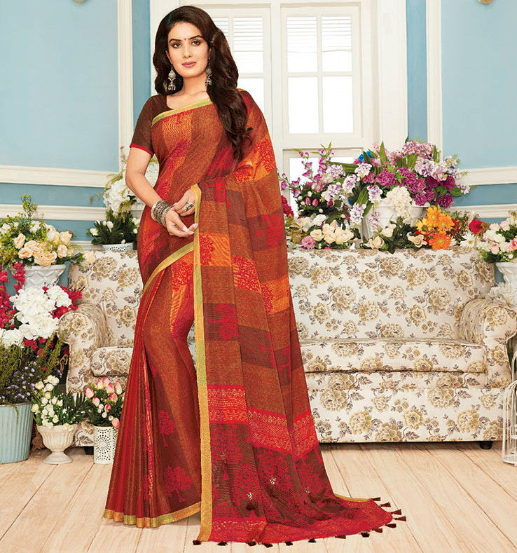 Multi Color Raw Silk Designer Festive Sarees : Preshan Collection  NYF-2098 - YellowFashion.in