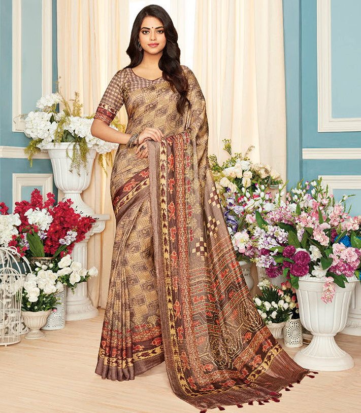 Multi Color Cotton Silk Designer Festive Sarees : Preshan Collection  NYF-2102 - YellowFashion.in
