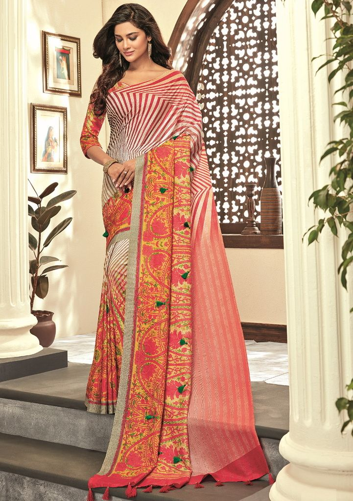 Multi Color Cotton Silk Designer Festive Sarees : Preshan Collection  NYF-2121 - YellowFashion.in