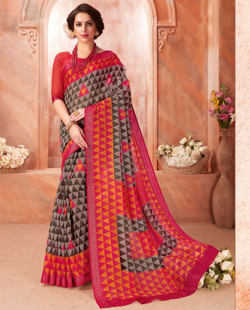 Multi Color Pashmina Silk Casual Party Sarees : Ambala Collection  NYF-2157 - YellowFashion.in