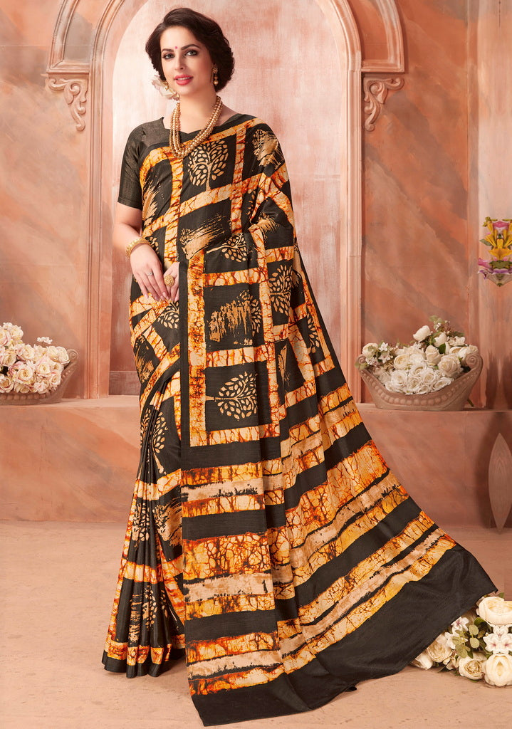 Multi Color Cotton Silk Casual Party Sarees : Ambala Collection  NYF-2158 - YellowFashion.in