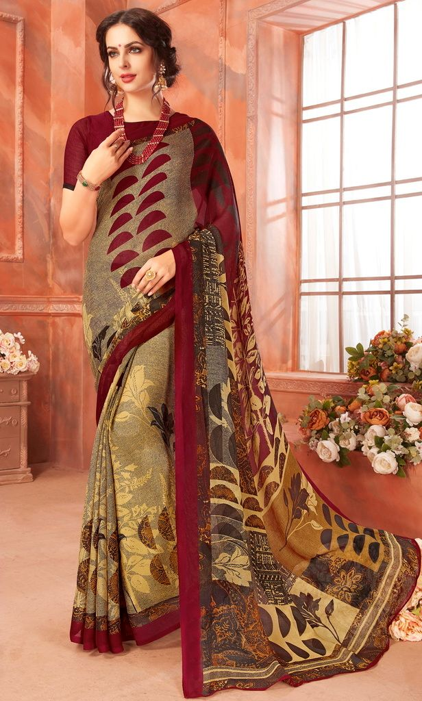 Multi Color Cotton Silk Casual Party Sarees : Ambala Collection  NYF-2159 - YellowFashion.in