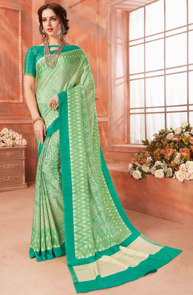 Green Color Cotton Silk Casual Party Sarees : Ambala Collection  NYF-2160 - YellowFashion.in