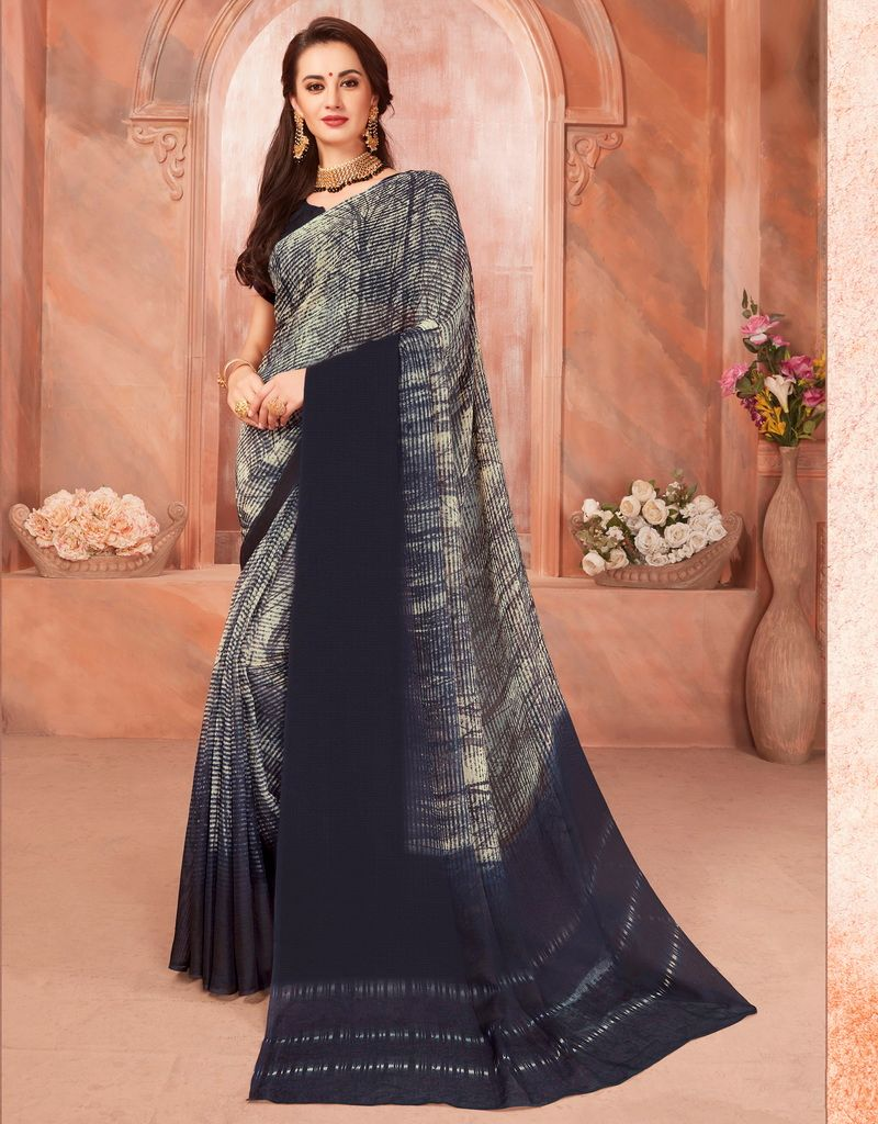 Grey Color Cotton Silk Casual Party Sarees : Ambala Collection  NYF-2165 - YellowFashion.in