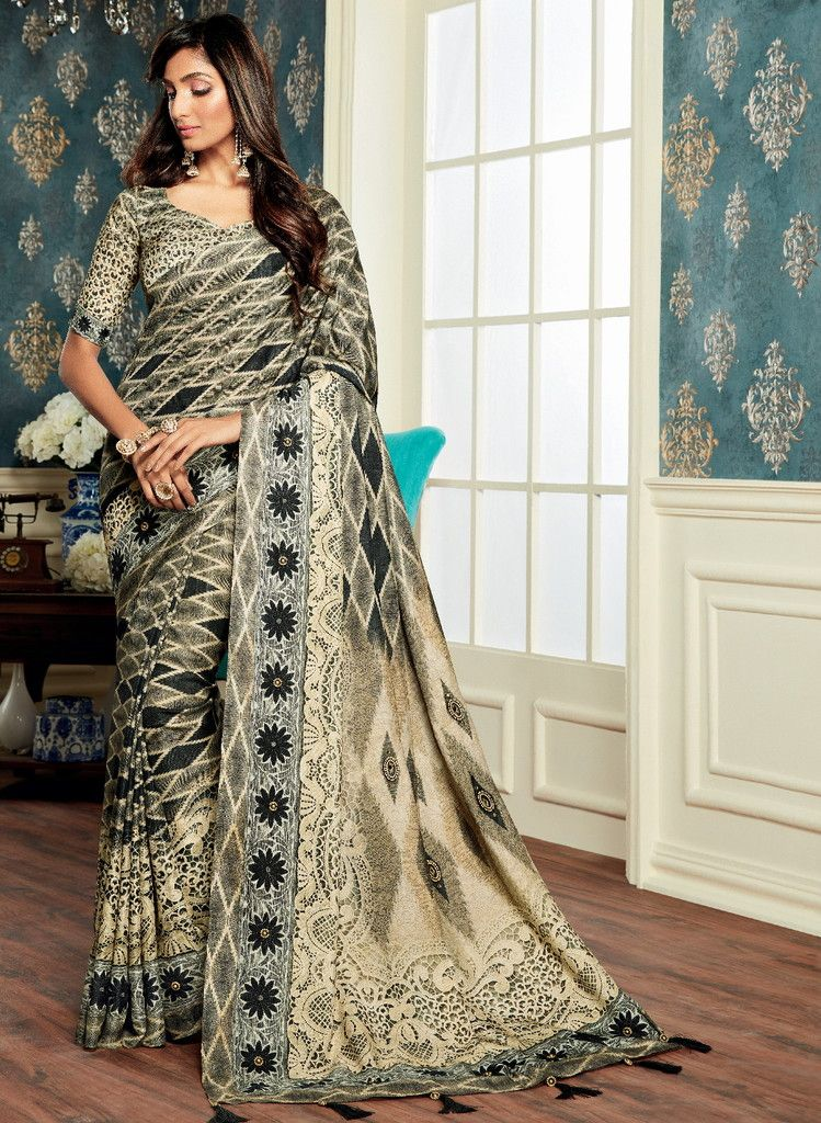 Multi Color Bhagalpuri Digital Print Party & Function Wear Sarees : Abhijata Collection  NYF-2059 - YellowFashion.in