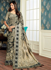Multi Color Bhagalpuri Digital Print Party & Function Wear Sarees : Abhijata Collection  NYF-2059