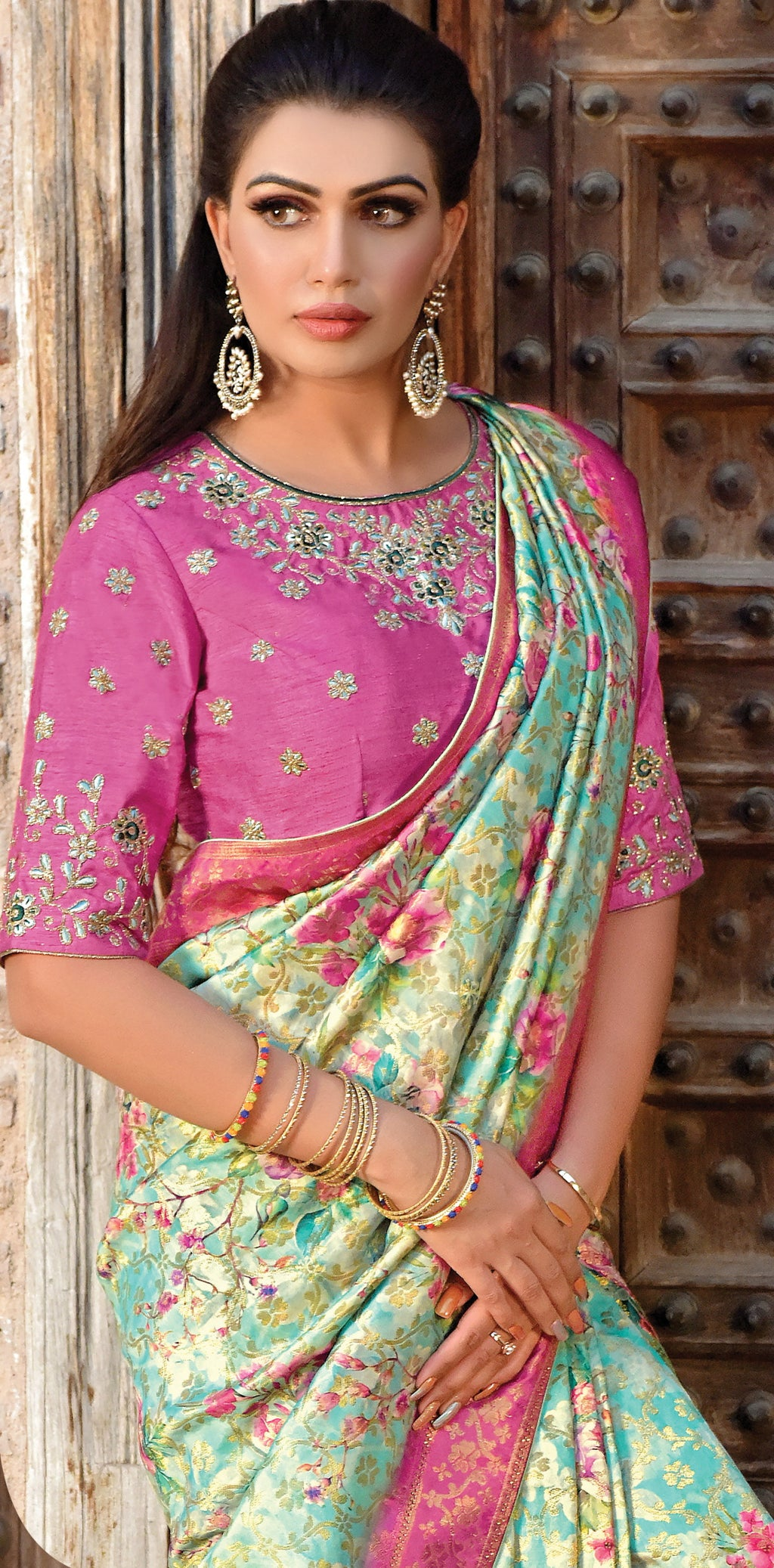 Pastel Green Color Weaved Silk Radiant Designer Sarees NYF-5066