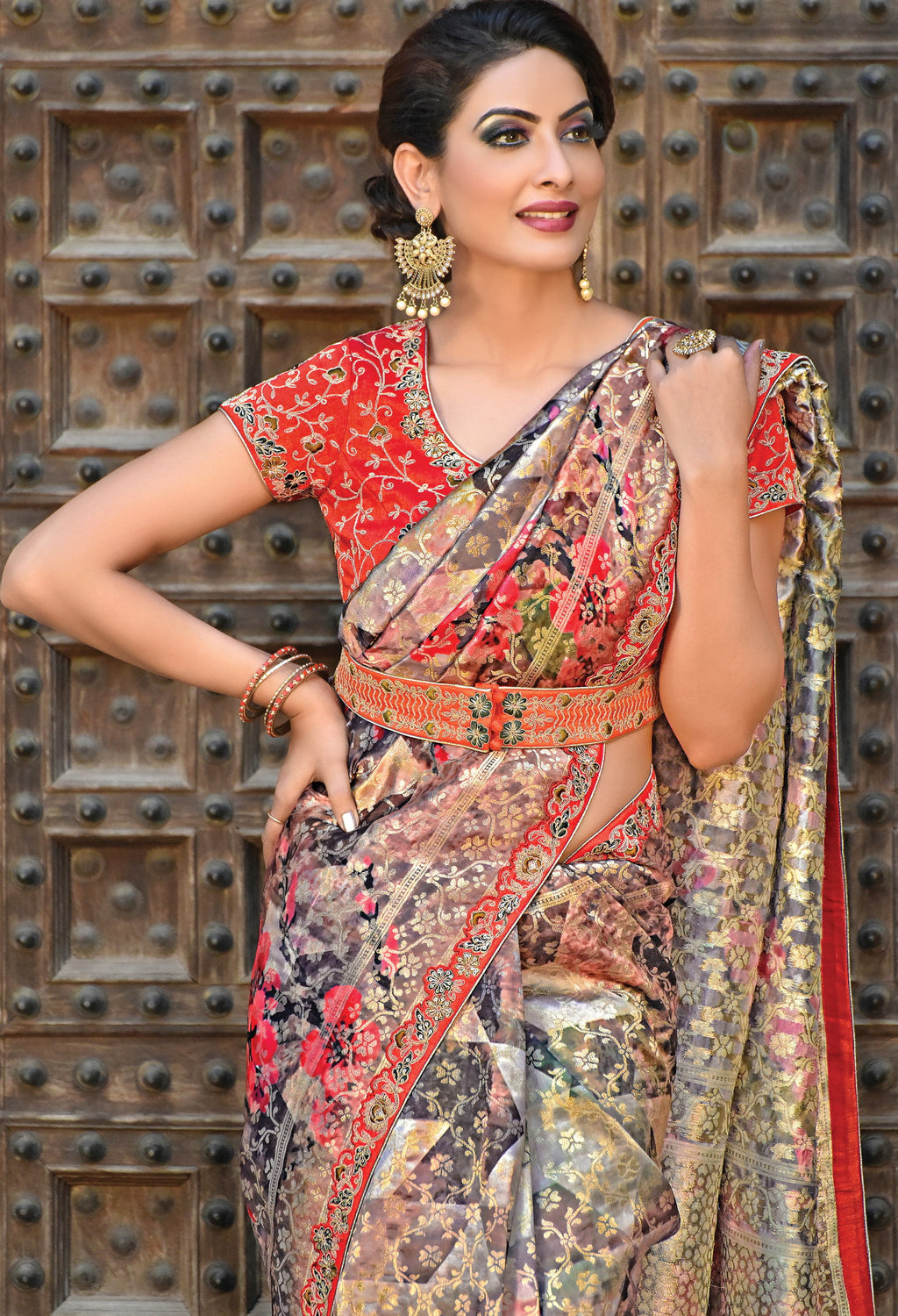 Multi Color Weaved silk Radiant Designer Sarees NYF-5071
