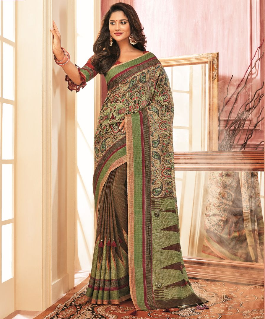 Multi Color Chiffon Festive Wear Sarees NYF-3787 - YellowFashion.in