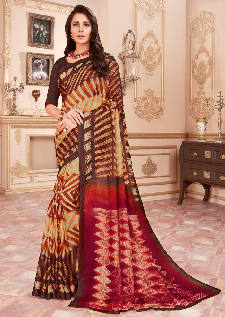 Multi Color Cotton Silk Casual Party Sarees : Ambala Collection  NYF-2197 - YellowFashion.in
