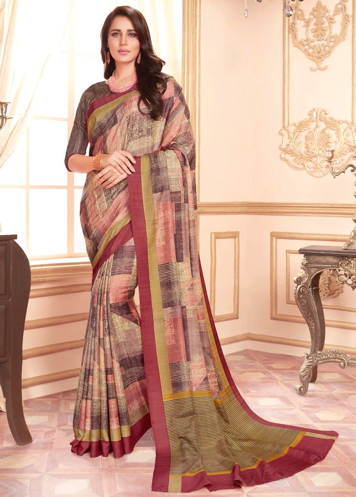 Multi Color Cotton Silk Casual Party Sarees : Ambala Collection  NYF-2199 - YellowFashion.in