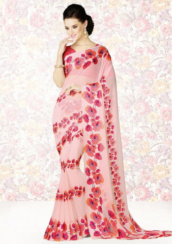 Pink Color Georgette Casual Party Sarees : Mishrani Collection  YF-45992