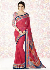 Gajjaria Color Georgette Casual Party Sarees : Mishrani Collection  YF-45994
