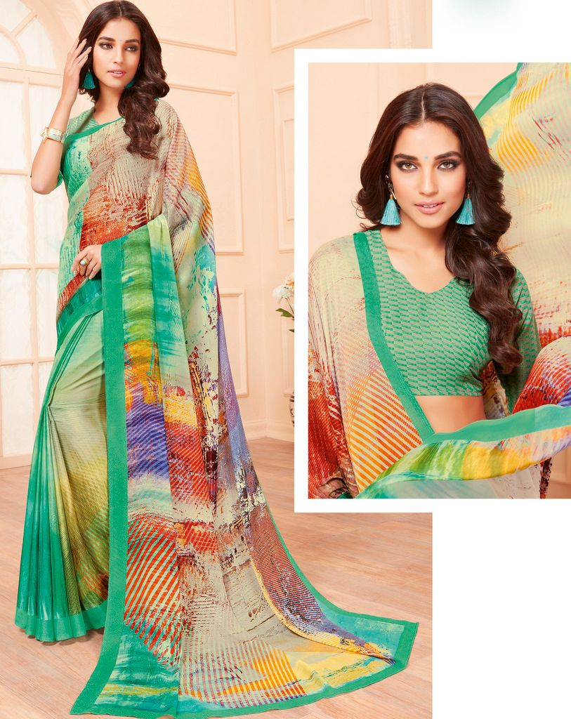 Multi Color Pashmina Silk Party & Function Wear Sarees :  Praniti Collection  NYF-2326 - YellowFashion.in