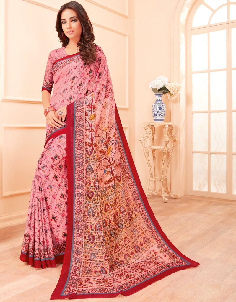 Pink Color Pashmina Silk Party & Function Wear Sarees :  Praniti Collection  NYF-2330 - YellowFashion.in