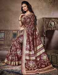 Brown Color Bhagalpuri Casual Party Sarees : Sanchi Collection  YF-30990
