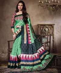 Pearl Green Color Bhagalpuri Casual Party Sarees : Sanchi Collection  YF-30996