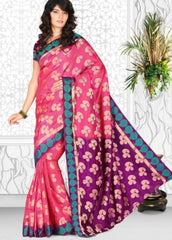 Pink & Purple Color Art Silk Casual Wear Sarees : Dhir Collection  YF-31550
