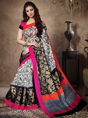 Grey Color Bhagalpuri Casual Party Sarees : Sanchi Collection  YF-31001