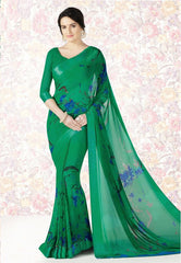 Green Color Georgette Casual Party Sarees : Mishrani Collection  YF-46004