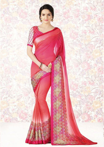Pink Color Georgette Casual Party Sarees : Mishrani Collection  YF-46015