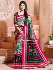 Black & Pink Color Bhagalpuri Party Wear Sarees : Tashvi Collection  YF-32628