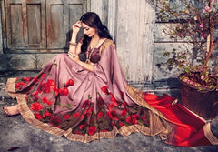 Pink Color Bhagalpuri Casual Wear Sarees : Kuhu Collection  YF-33125