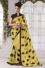 Yellow Color Georgette Party Wear Sarees : Suzania Collection  YF-46398