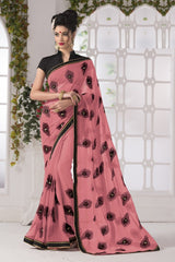 Pink Color Georgette Party Wear Sarees : Suzania Collection  YF-46399