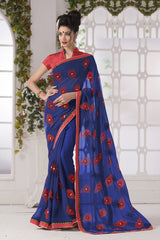 Blue Color Georgette Party Wear Sarees : Suzania Collection  YF-46404