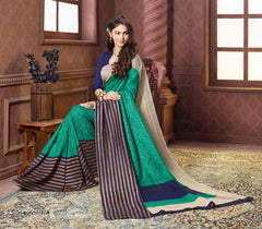 Rama Green & Blue Color Bhagalpuri Festival & Party Wear Sarees : Sarisa Collection  YF-37177
