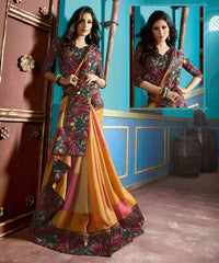 Yellow & Pink Color Bhagalpuri Casual Function Wear Sarees : Tarana Collection  YF-37660