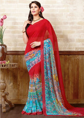 pink Color Marble Chiffon Casual Wear Sarees : Manvira Collection  YF-48980