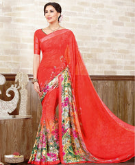Gajjaria Color Georgette Casual Wear Sarees : Manvira Collection  YF-48987