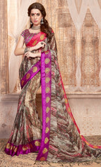 Multi Color Georgette Casual Wear Sarees : Samyan Collection  YF-47374