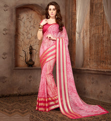Pink Color Georgette Casual Wear Sarees : Samyan Collection  YF-47379