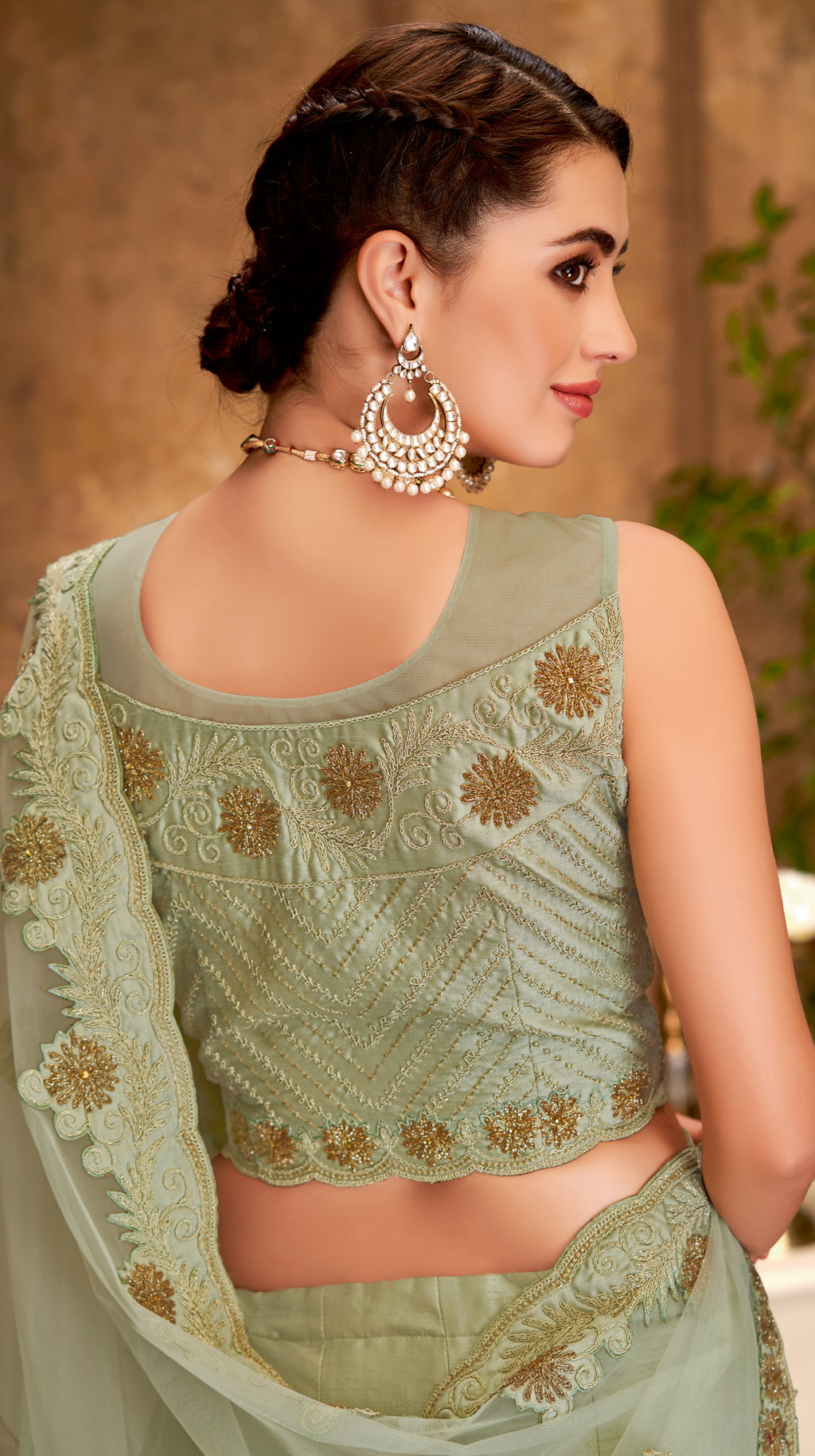 Aqua Green Color Raw Silk Glamorous Party Wear Lehengas NYF-5827