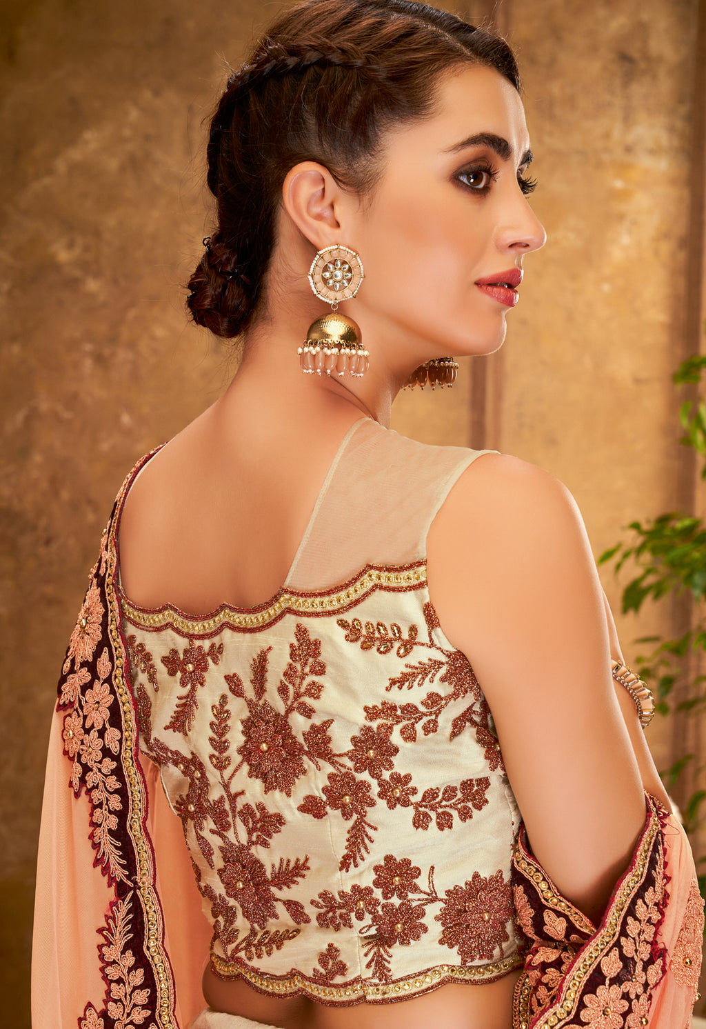 Off White Color Raw Silk Glamorous Party Wear Lehengas NYF-5832