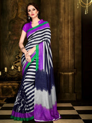 Blue Color Bhagalpuri Party Wear Sarees : Lakshika Collection  YF-41791