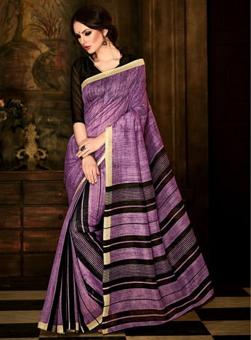 Pinkish Purple Color Bhagalpuri Party Wear Sarees : Lakshika Collection  YF-41800