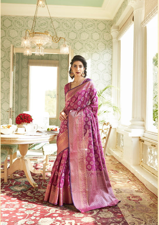Majenta Color Soft Silk Traditional Wear Saree -  Devishi Collection YF#11060