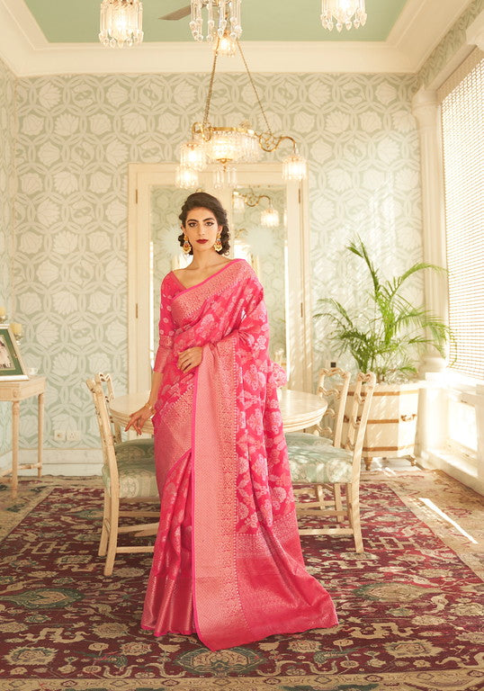 Pink Color Soft Silk Traditional Wear Saree -  Devishi Collection YF#11064