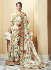 Pastel Green Color Art Salem Silk Festival & Party Wear Sarees : Brinda Collection  YF-44465