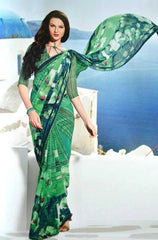 Green Color Georgette Printed Sarees : Amelia Collection  YF-22659