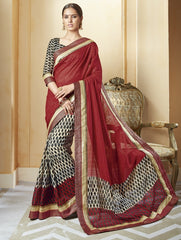 Red Color Art Salem Silk Festival & Party Wear Sarees : Brinda Collection  YF-44484