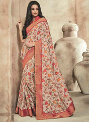 Orange Color Twist Tusser Party Wear Sarees : Trinaina Collection  YF-45377