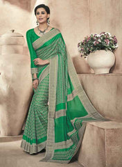 Green Color Twist Tusser Party Wear Sarees : Trinaina Collection  YF-45383