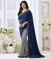 Blue Color Georgette Party Wear Sarees : Vivita Collection  YF-46602