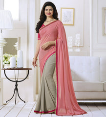 Pink Color Georgette Party Wear Sarees : Vivita Collection  YF-46607