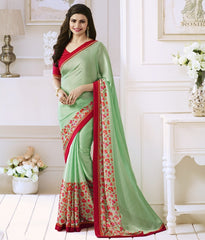 Pastel Green Color Satin Georgette Casual Function Sarees : Naitika Collection  YF-48064